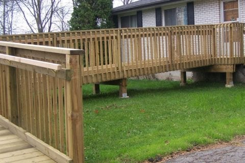 Permanent Pressure Treated Wood Ramp