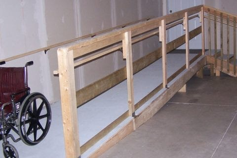 Permanent Wood Wheelchair Ramp